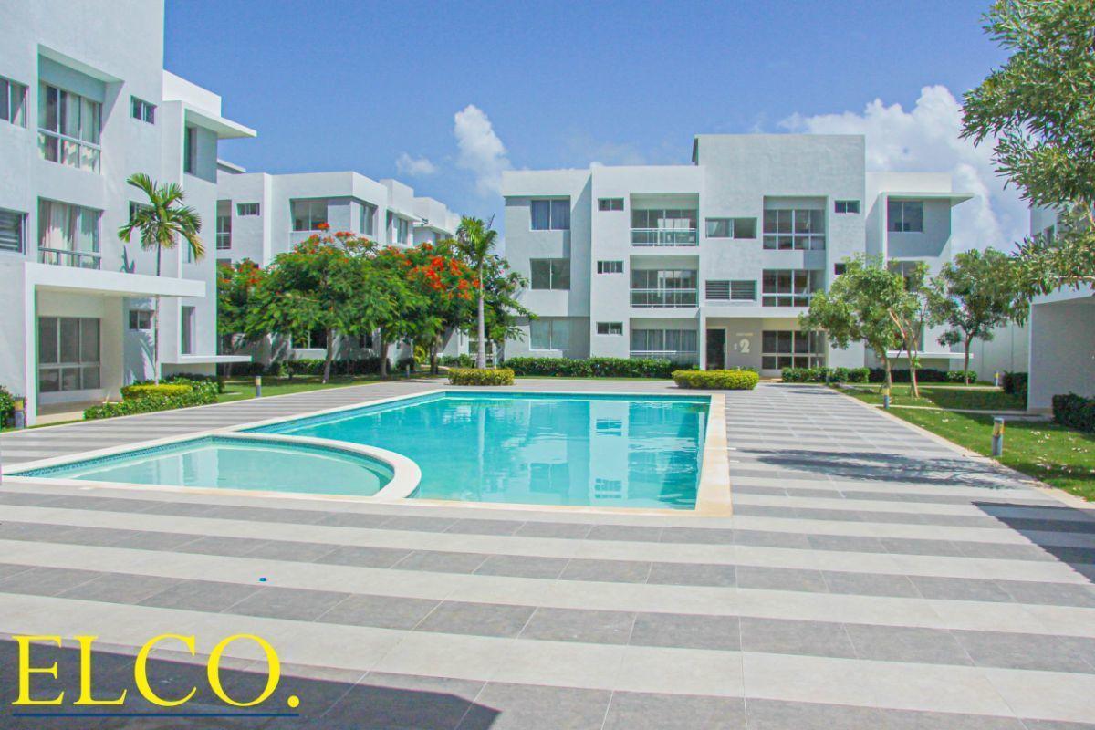 2 de 34: Apartamentos en venta punta cana 1 dormitorio vista jardín