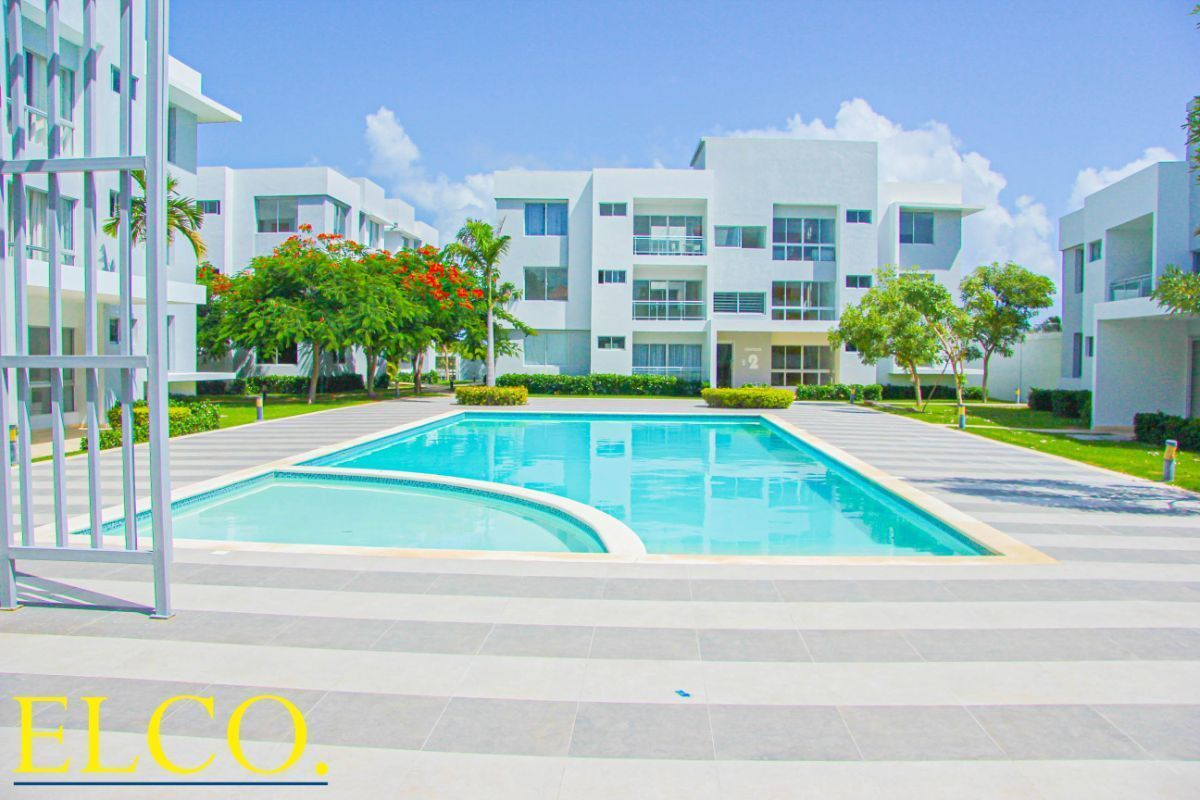 1 de 34: Apartamentos en venta punta cana 1 dormitorio vista jardín