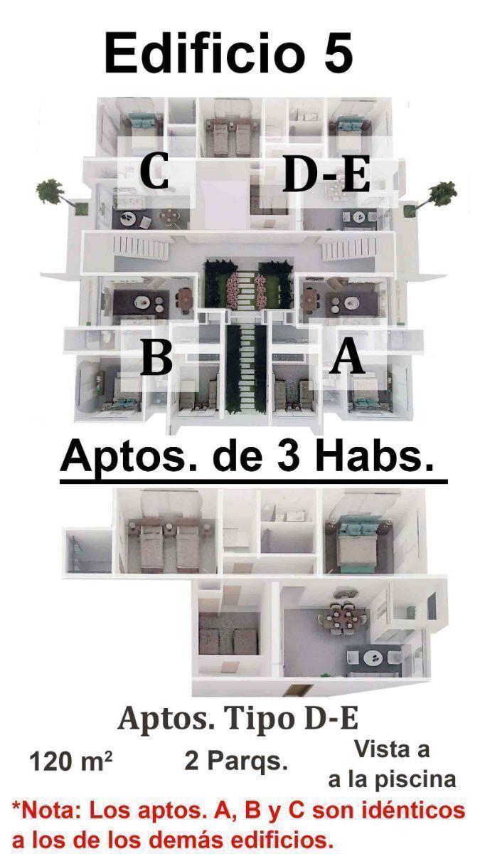 19 de 34: Apartamentos de 2 dormitorios nuevos punta cana