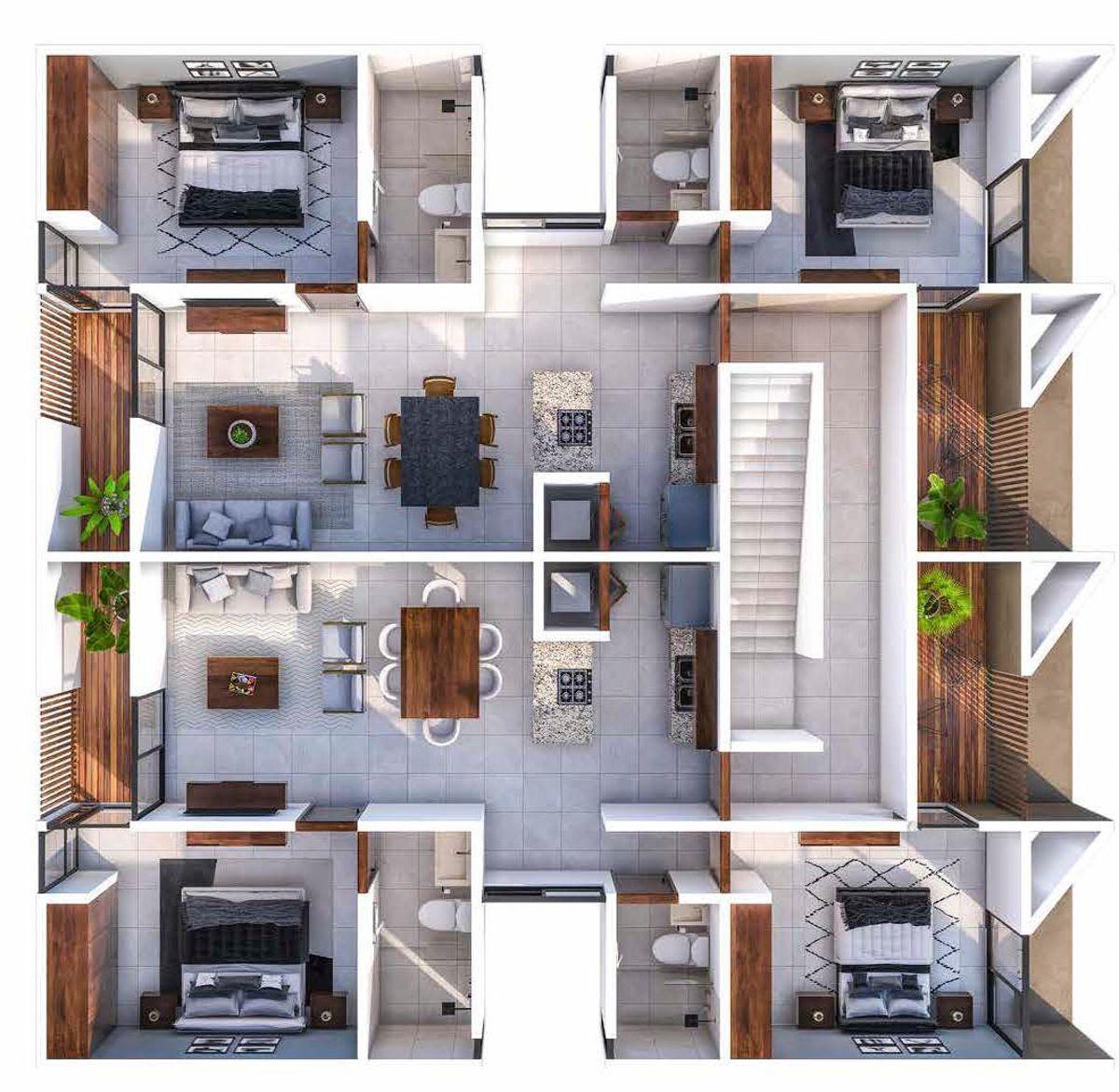 4 de 10: Departamentos  2 y 3 piso