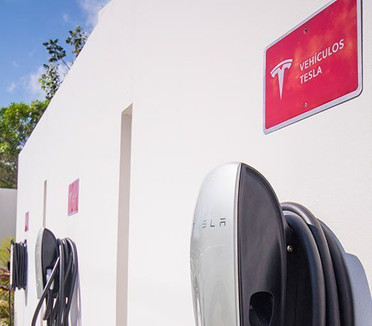 13 of 28: Tesla and zero emission charging stations
