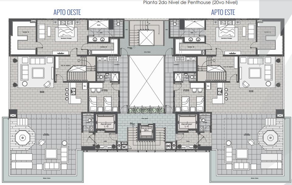 4 de 43: 1er nivel del Pent House