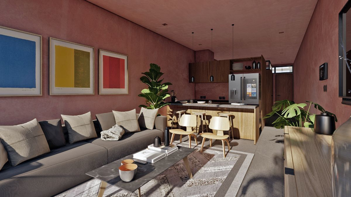 9 de 10: Living room departamento 1 recamara