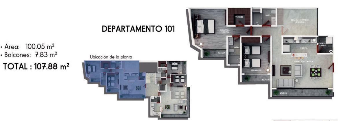 2 de 21: distribución del departamento 101