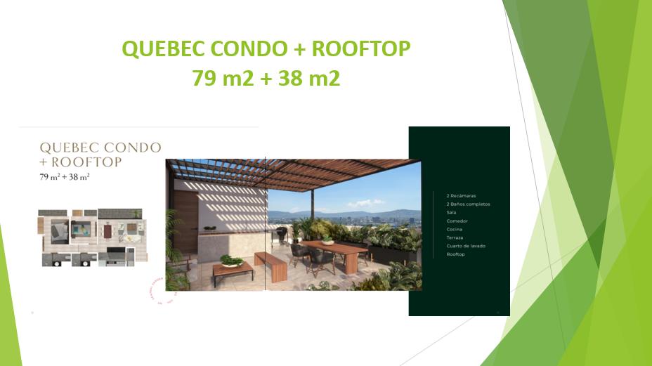 9 de 12: MODELO QUEBEC CONDO + ROOFTOP 2 RECAMRAS