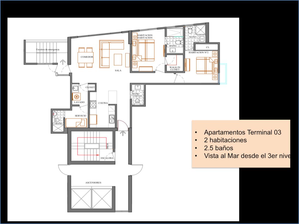 22 de 23: Distribución 2 habitaciones