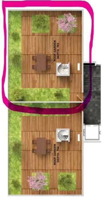 3 de 9: Roof garden del departamento 703