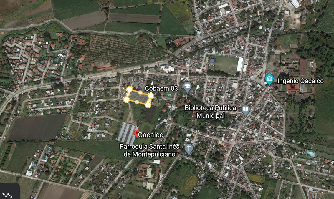 2 de 4: Pueblo de Oacalco y terreno adjunto al panteón