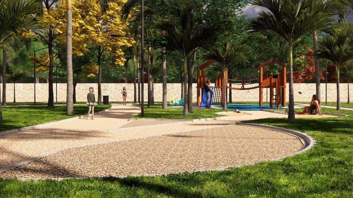 4 de 6: Área verde y pista para caminar
