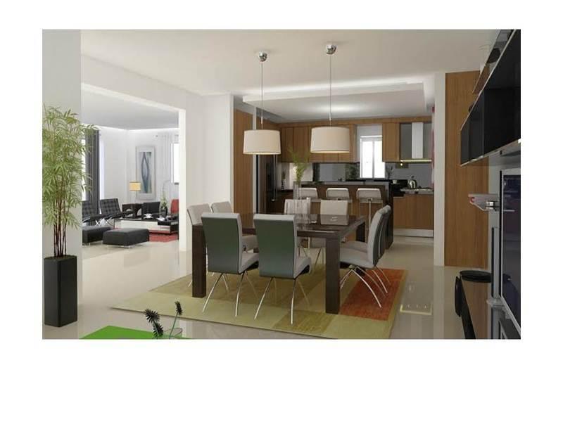 7 de 14: Cocina con desayunador tipo isleta y despensa, closet para ropa blanca, balcón, área de lavado,  habitación de servicio con su baño