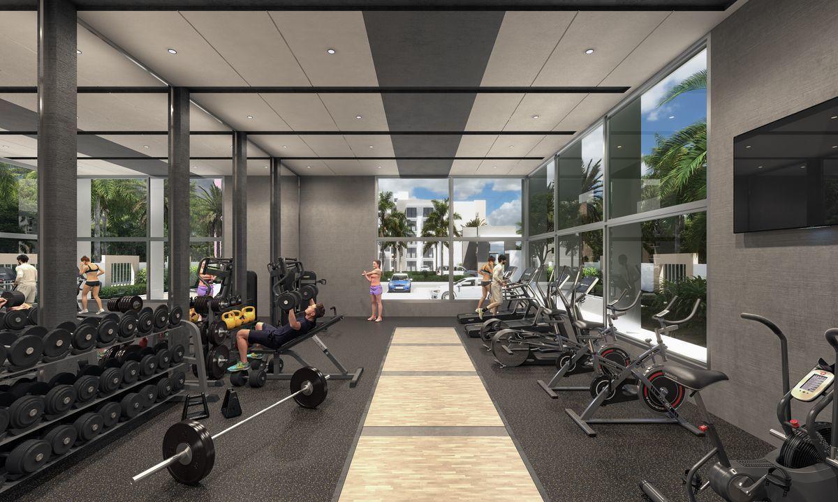 8 de 18: gym techado en la casa club