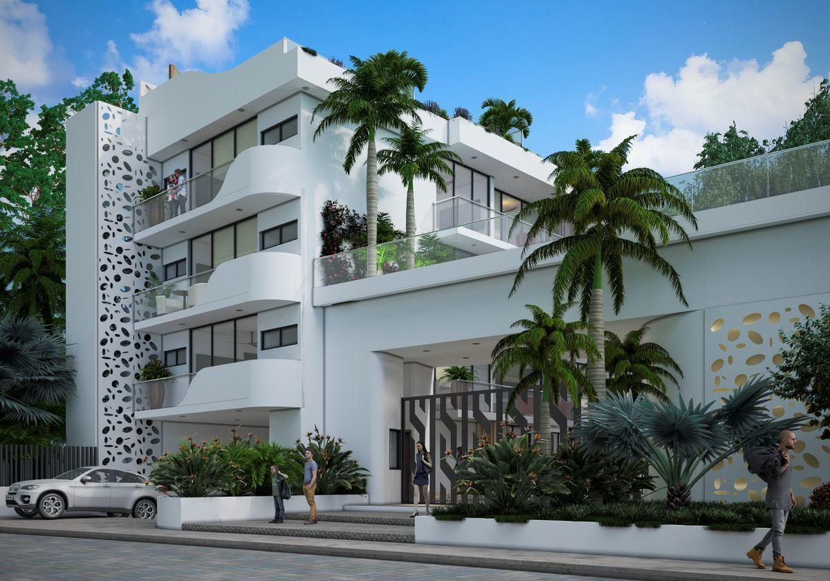 2 de 12: Fachada Exterior Departamentos Cancun