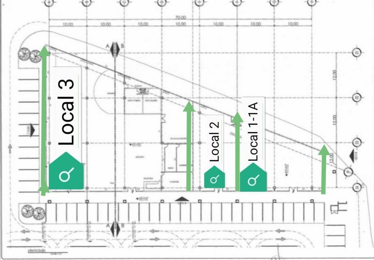 2 de 9: Croquis de ubicación de local 1-1A   frente de 23 mt2