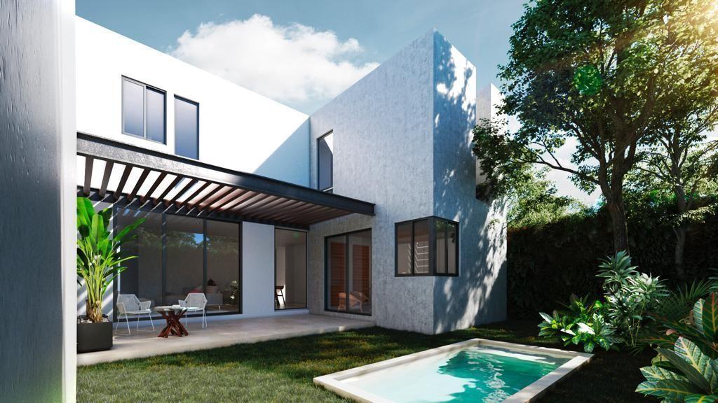 13 de 13: Renders con terraza techada y piscina