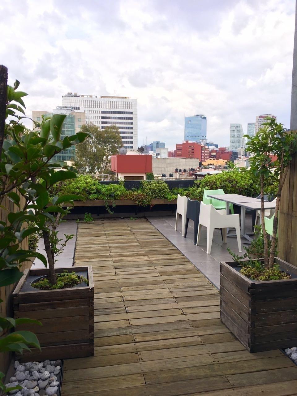 7 de 10: Roof garden comun