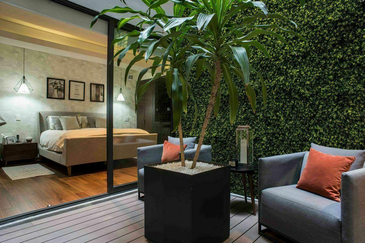10 de 24: Master Bedroom desde terraza o cubo de luz