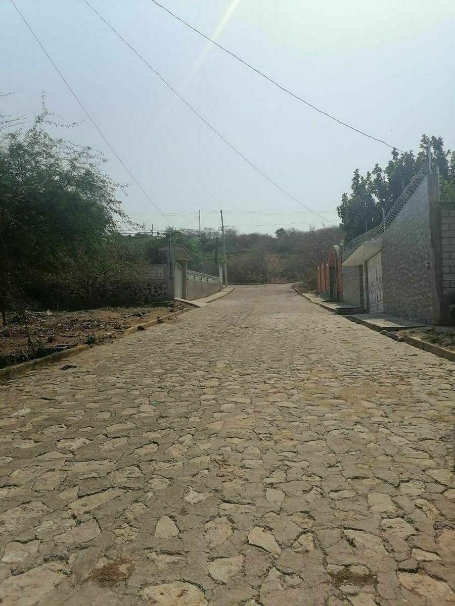 3 de 9: Calle empedrada. de lado izquierdo esta el terreno