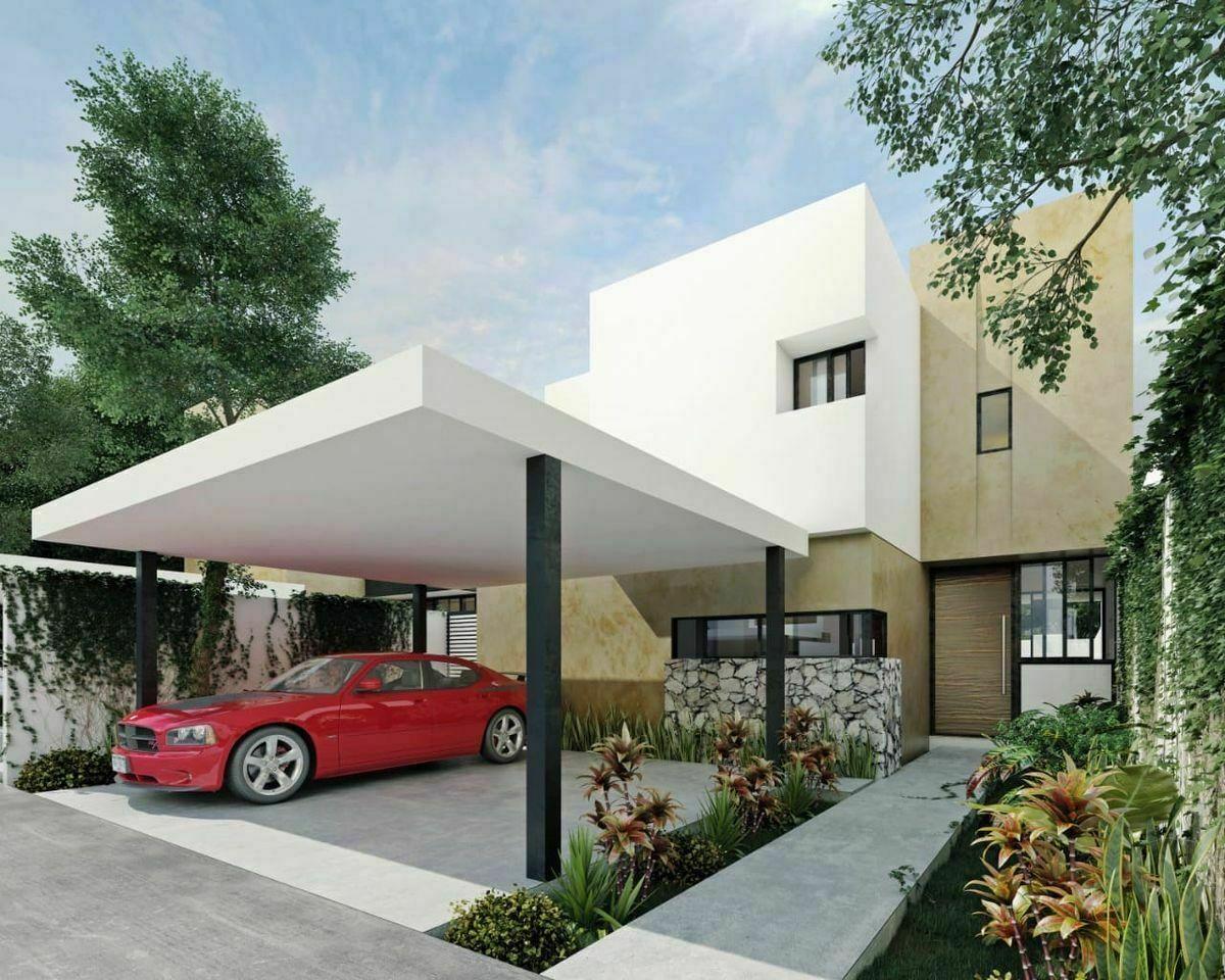 4 de 4: Fachada Principal Garage Techado Opcional Imagen ilustrativa