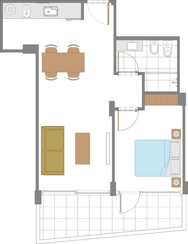 25 de 50: Floor plan 1
