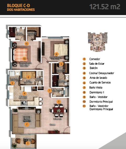 4 de 6: planta 2 habitaciones