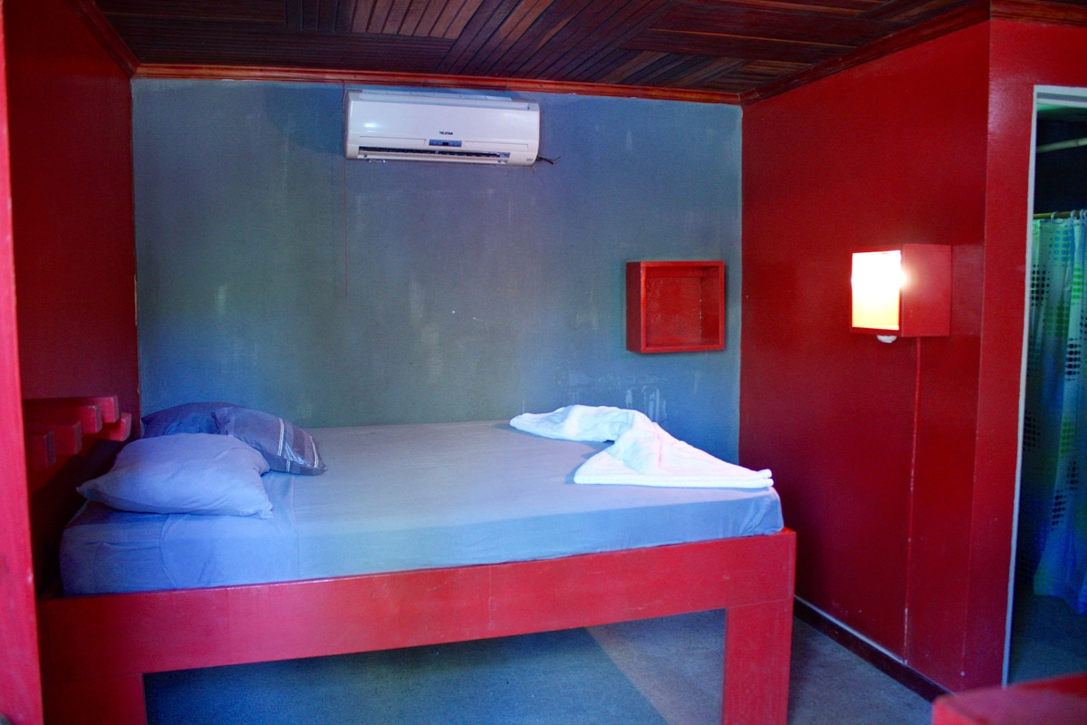 10 of 14: Large sleeping room with AC.