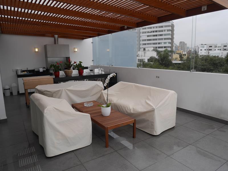 33 de 39: Hermosa Terraza con BBQ en Área Común último piso