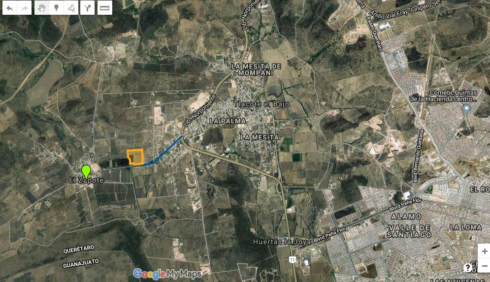 11 de 17: 890 mts del libramiento Norponiente.