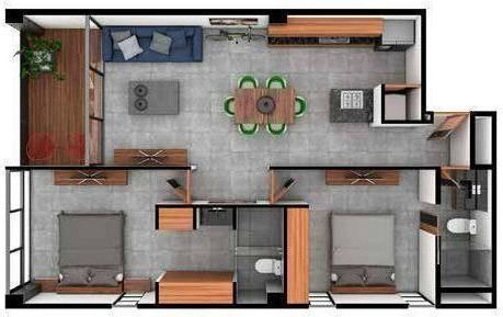 7 de 11: The perfect two-bedroom (modelo B1)