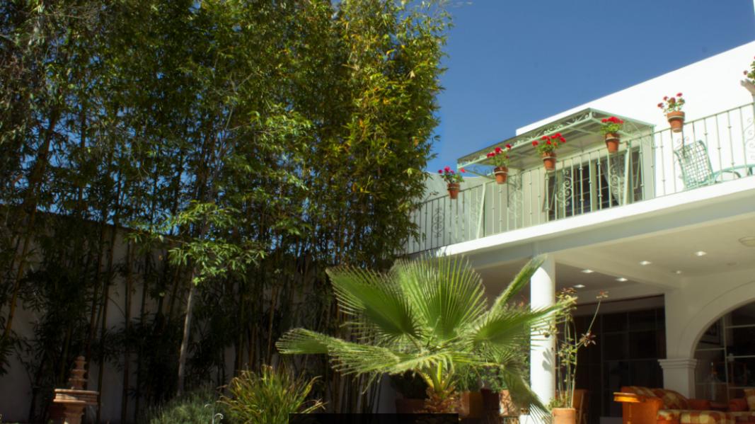 3 of 8: Vista frontal, se aprecia el amplio jardín.
