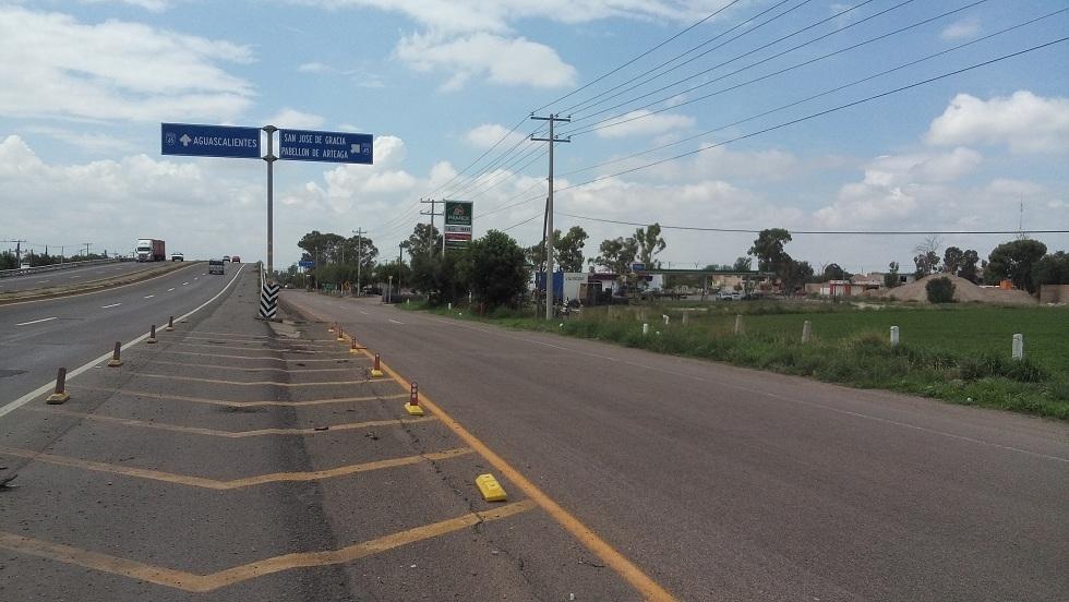 2 de 11: Vista carretera Zacatecas-Aguascalientes
