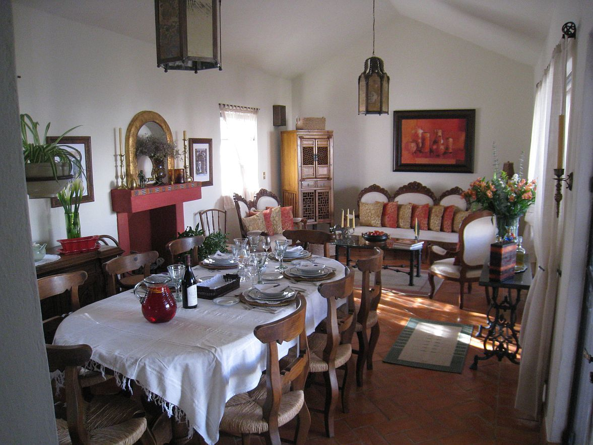 1 of 11: Dining Room with Saltillo tile floors