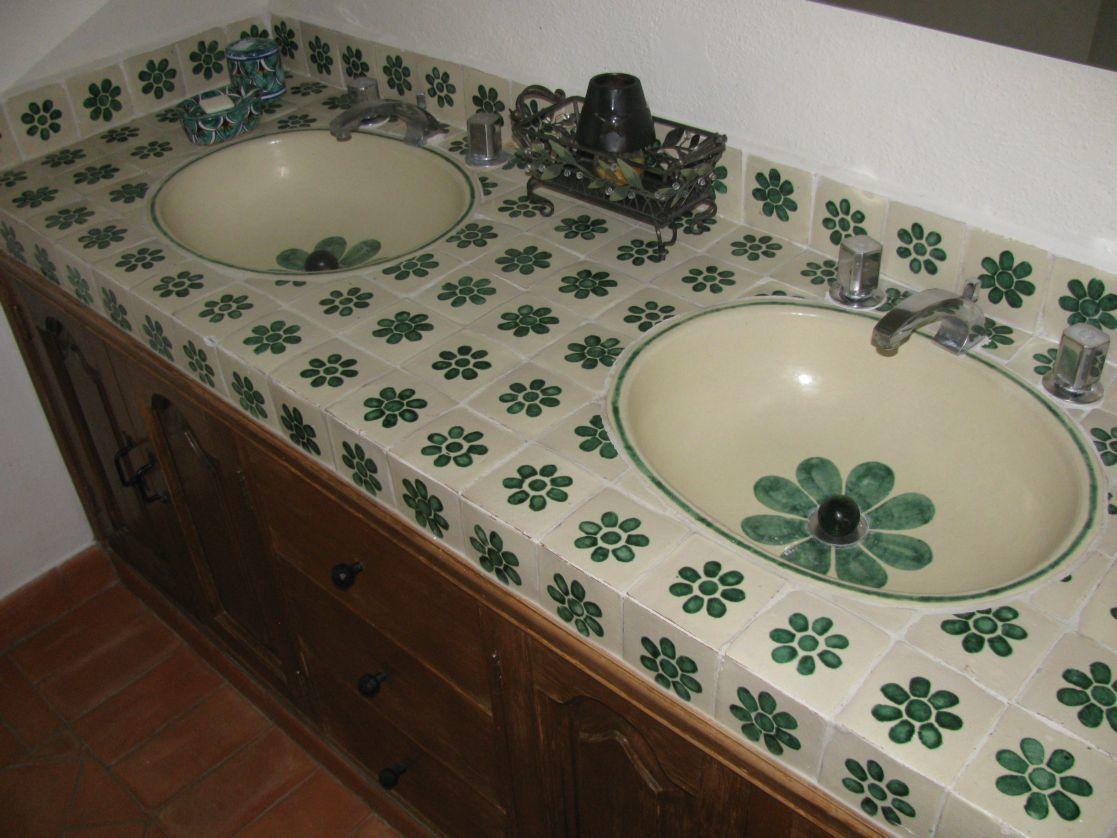4 of 11: Bathroom Vanity with Talavera tiles