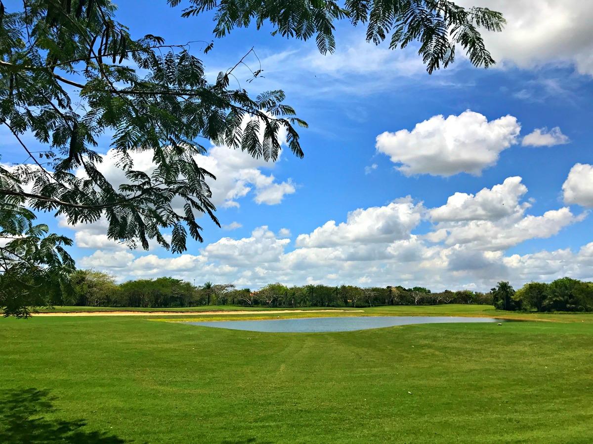 41 de 42: Vista al Campo de Golf y lago