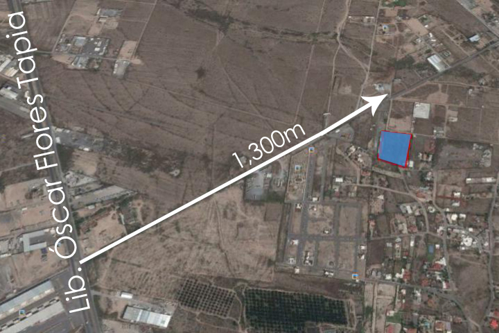 13 de 14: A 1,300m de Libramiento Óscar Flores Tapia
