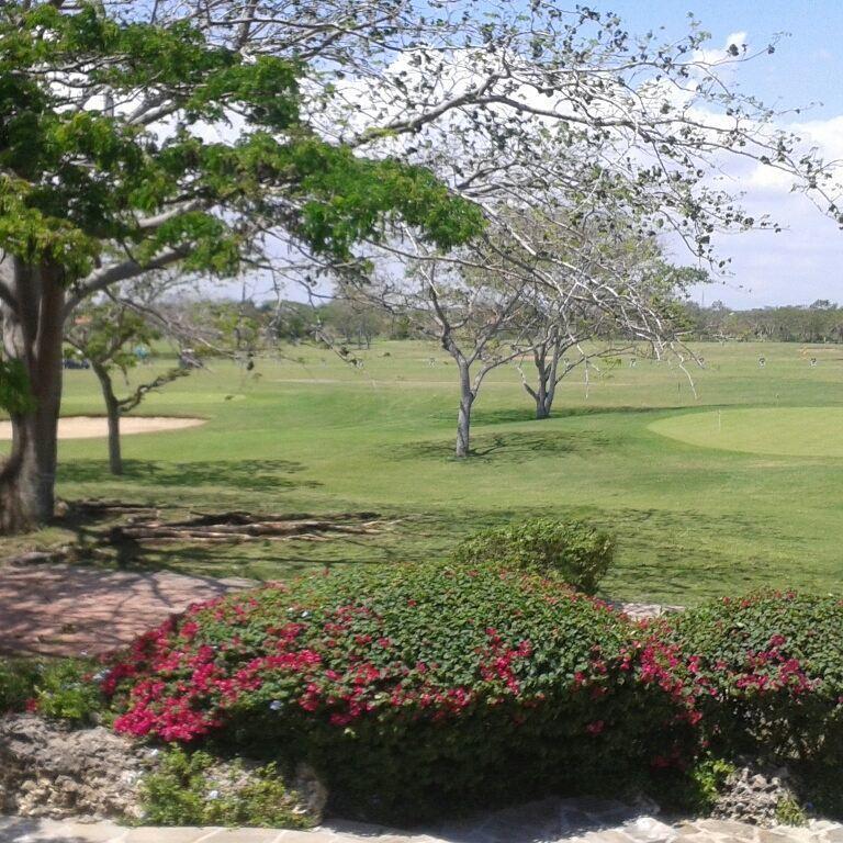 1 de 7: Vista al campo de golf desde el club
