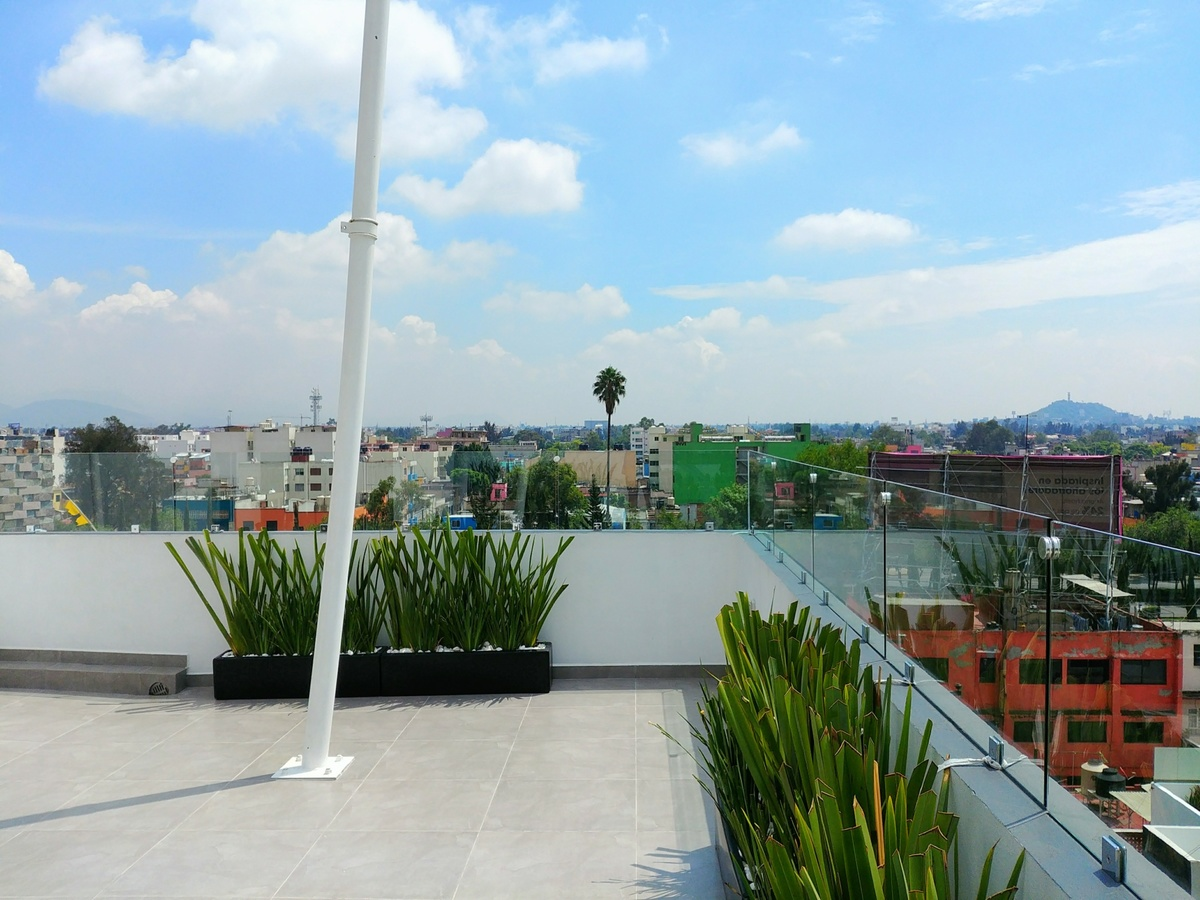 23 de 29: Roof garden privado, con asador, velaría, ½ baño, tarja