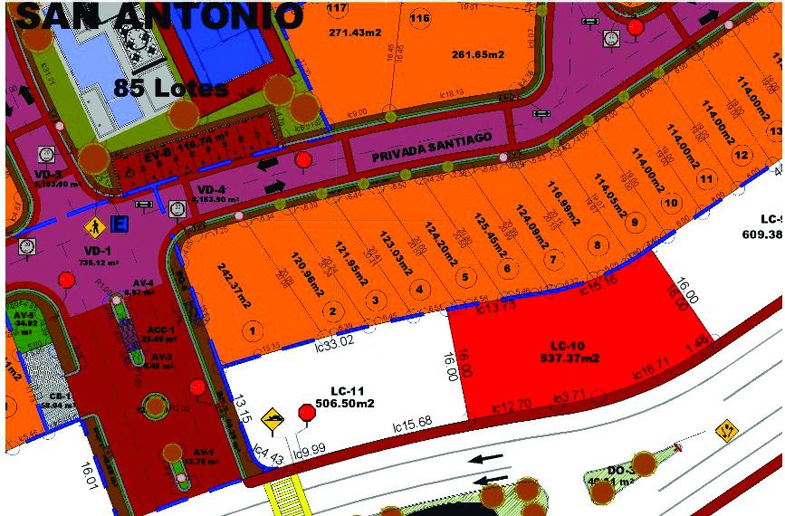4 de 10: Poligonal del Terreno con 35 Metros de Frente y 15 de Fondo
