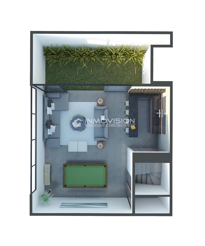 26 de 28: Planta Flex-Room - múltiples funciones (sótano)