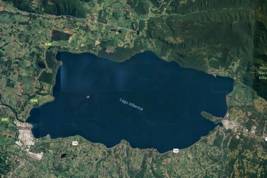 25 de 27: Mapa Lago Villarica