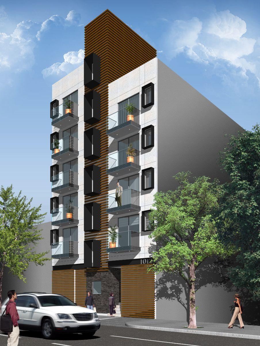 Del valle moderno edificio de solo 9 departamentos y for Distribucion departamentos modernos