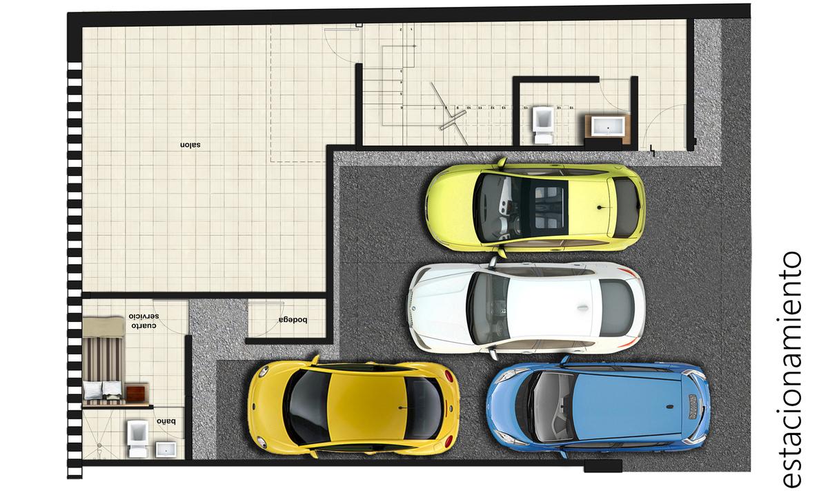 2 de 4: Estacionamientos techados y bodega