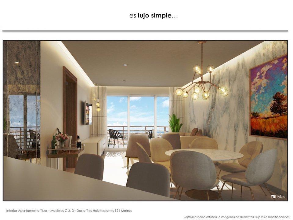 2 de 17: Imagen interior Apto. 2 habs. con Balcón
