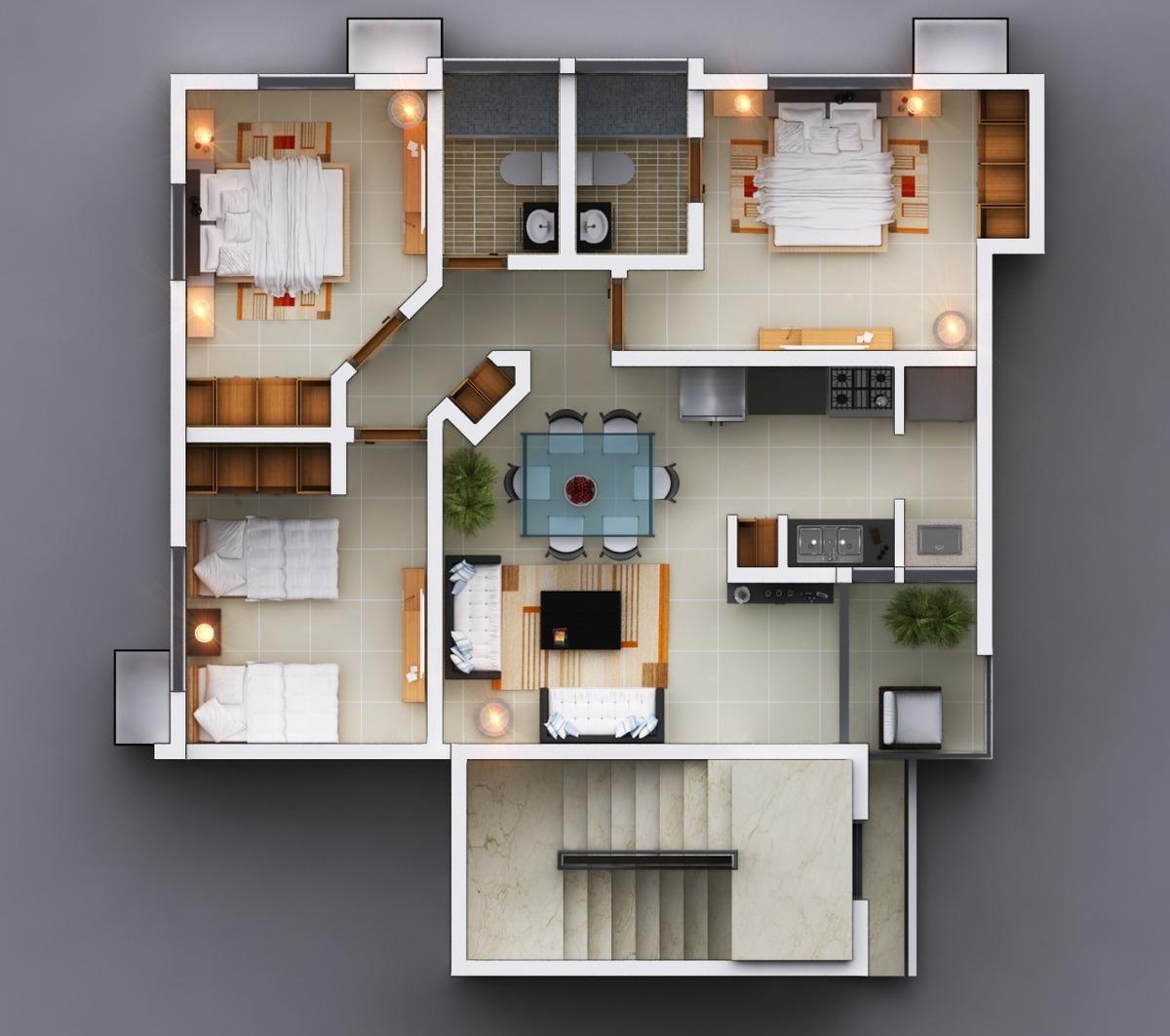 Apartamento nuevo en primer nivel con patio en llanos de for Diseno de apartamento de una habitacion