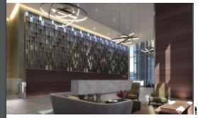 3 de 9: Lobby con doble altura Sala de espera