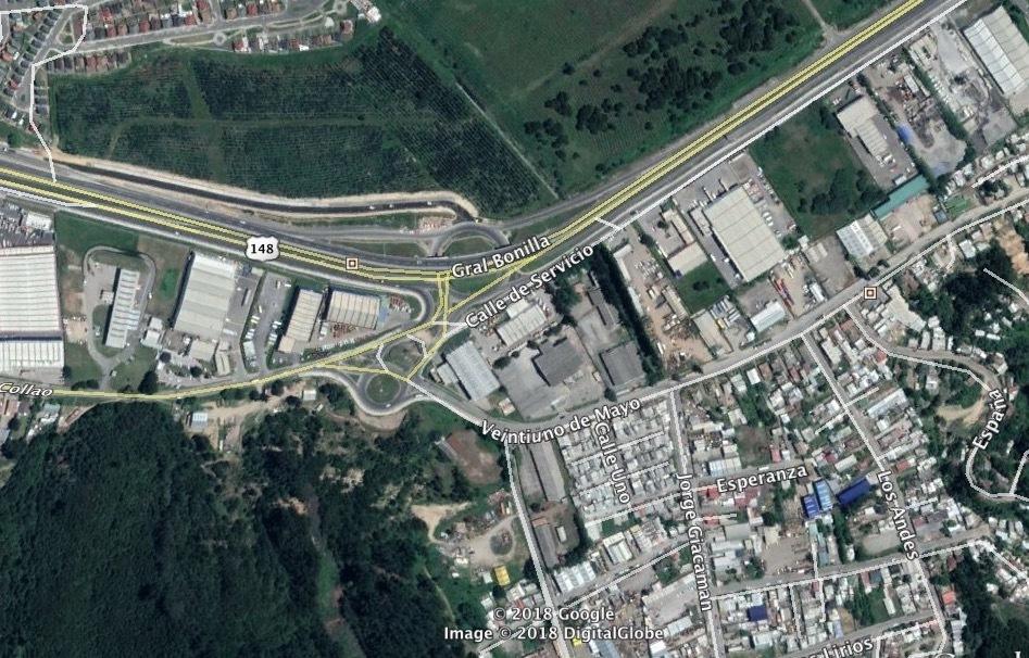 1 de 1: Sector Palomares, salida a Bulnes y Cabrero