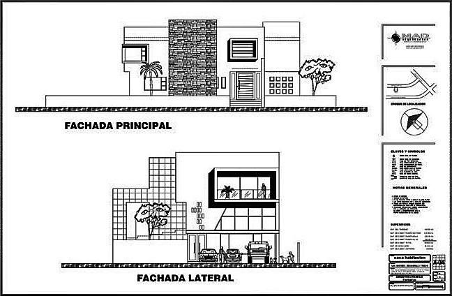 5 de 9: Fachada Principal y Fachada Lateral