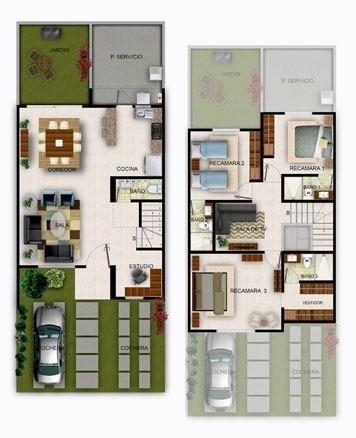 12 de 13: Planta arquitectónica modelo San Francisco
