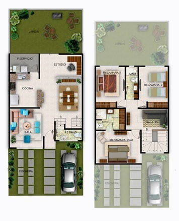 8 de 13: Planta arquitectónica modelo Santa Ines