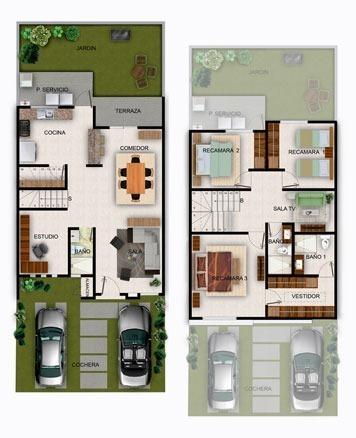 10 de 13: Planta arquitectónica modelo Santa Clara