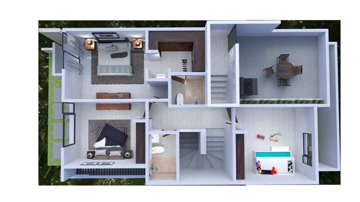 3 de 8: Segundo nivel + Roof Garden